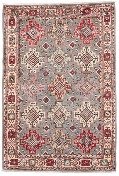 Kazak Tapis 121X177 D'orient Fait Main Gris Clair/Rouge Foncé (Laine, Afghanistan)