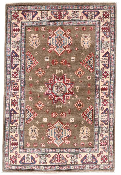 Kazak Tapis 119X179 D'orient Fait Main Marron/Gris Clair (Laine, Afghanistan)