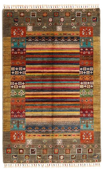 Shabargan Tapis 119X186 Moderne Fait Main Marron/Beige (Laine, Afghanistan)