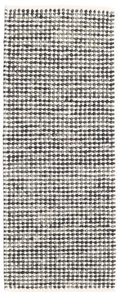 Big Drop - Noir/Gris Mix Tapis 80X200 Moderne Tissé À La Main Tapis Couloir Gris Clair/Blanc/Crème (Laine, Inde)