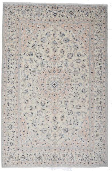 Naïn 9La Tapis 200X308 D'orient Fait Main Gris Clair (Laine/Soie, Perse/Iran)