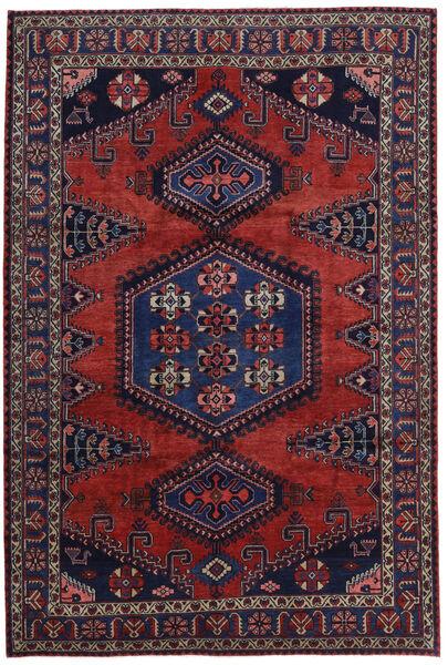 Wiss Tapis 214X318 D'orient Fait Main Rouge Foncé/Violet Foncé (Laine, Perse/Iran)