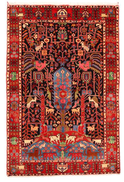 Nahavand Old Tapis 165X247 D'orient Fait Main Rouge Foncé/Beige (Laine, Perse/Iran)