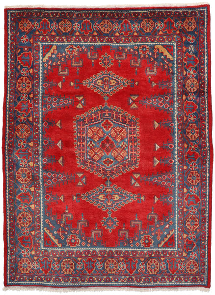 Wiss Tapis 160X222 D'orient Fait Main Rouille/Rouge/Rouge Foncé (Laine, Perse/Iran)