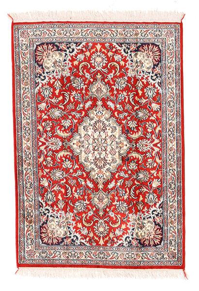 Cachemire Pure Soie Tapis 64X93 D'orient Fait Main Beige/Gris Clair (Soie, Inde)