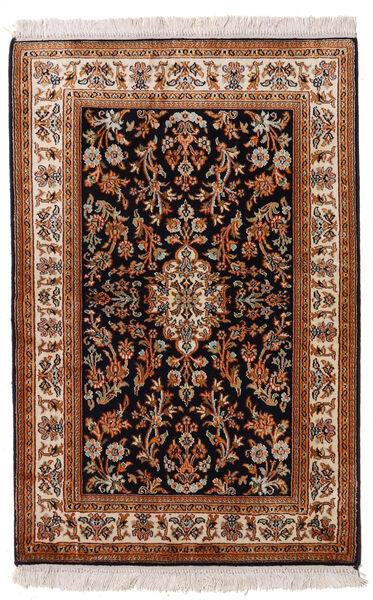 Cachemire Pure Soie Tapis 63X96 D'orient Fait Main Rouge Foncé/Noir (Soie, Inde)