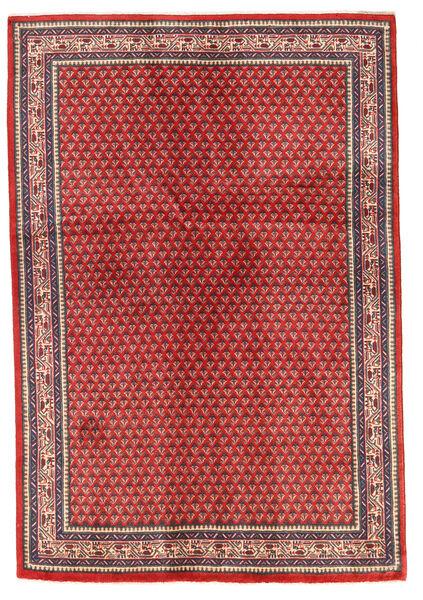 Sarough Tapis 130X192 D'orient Fait Main Rouille/Rouge/Rouge Foncé (Laine, Perse/Iran)