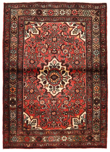 Asadabad Tapis 105X149 D'orient Fait Main Rouge Foncé/Marron Foncé (Laine, Perse/Iran)