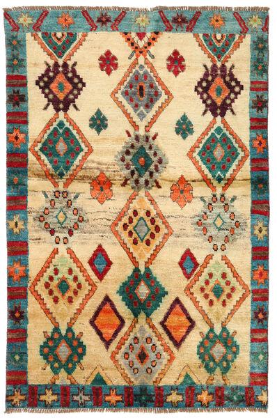 Moroccan Berber - Afghanistan Tapis 114X183 Moderne Fait Main Jaune/Beige (Laine, Afghanistan)