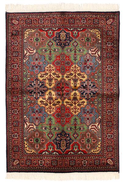 Kazak Tapis 135X192 D'orient Fait Main Rouge Foncé/Noir (Laine, Pakistan)