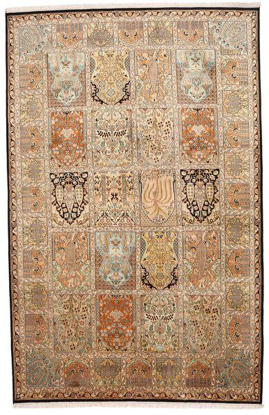 Cachemire Pure Soie Tapis 172X266 D'orient Fait Main Marron/Beige (Soie, Inde)