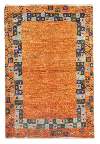 Gabbeh Persan Tapis 60X92 Moderne Fait Main Orange/Marron (Laine, Perse/Iran)