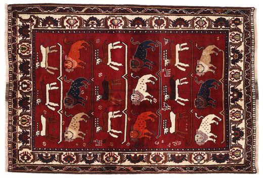 Ghashghaï Tapis 127X186 D'orient Fait Main Rouge Foncé/Marron Foncé (Laine, Perse/Iran)