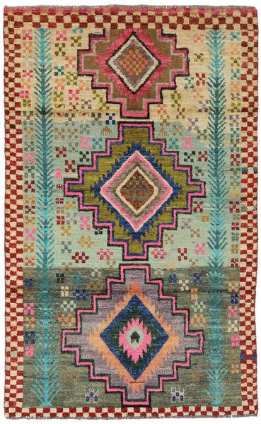 Moroccan Berber - Afghanistan Tapis 113X183 Moderne Fait Main Rouge Foncé/Vert Foncé (Laine, Afghanistan)