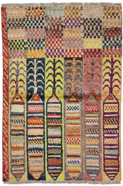Moroccan Berber - Afghanistan Tapis 88X132 Moderne Fait Main Rouge Foncé/Gris Foncé (Laine, Afghanistan)