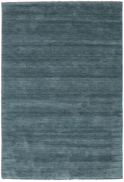 Handloom Fringes - Secondaire Tapis 160X230 Moderne Noir/Bleu Foncé (Laine, Inde)