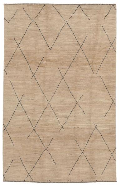 Moroccan Berber - Afghanistan Tapis 192X297 Moderne Fait Main Marron/Beige (Laine, Afghanistan)