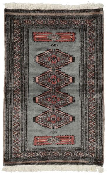 Pakistan Boukhara 3Ply Tapis 97X152 D'orient Fait Main Noir/Gris Foncé (Laine, Pakistan)