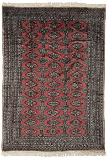 Pakistan Boukhara 2Ply Tapis 190X263 D'orient Fait Main Noir/Marron Foncé (Laine, Pakistan)