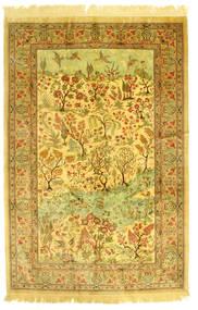 Ghom Soie Figural/Pictural Tapis 131X198 D'orient Fait Main (Soie, Perse/Iran)