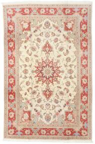 Tabriz 50 Raj Tapis 190X293 D'orient Fait Main Beige/Marron Clair (Laine/Soie, Perse/Iran)
