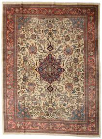 Sarough Tapis 280X370 D'orient Fait Main Marron Clair/Gris Foncé Grand (Laine, Perse/Iran)
