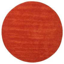 Handloom - Rouille/Rouge Tapis Ø 200 Moderne Rond Rouille/Rouge (Laine, Inde)