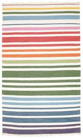 Rainbow Stripe - Blanc Tapis 180X280 Moderne Tissé À La Main Beige/Blanc/Crème (Coton, Inde)