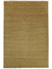Handloom Fringes - Vert Olive Tapis 140X200 Moderne Vert Olive/Marron (Laine, Inde)