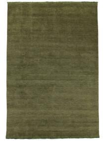 Handloom Fringes - Vert Tapis 160X230 Moderne Vert Olive (Laine, Inde)