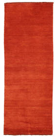 Handloom Fringes - Rouille/Rouge Tapis 80X200 Moderne Tapis Couloir Rouille/Rouge (Laine, Inde)