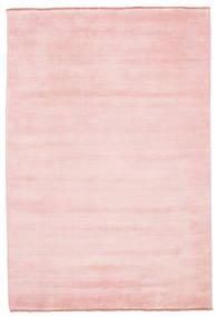 Handloom Fringes - Rose Tapis 160X230 Moderne Rose Clair (Laine, Inde)
