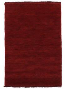 Handloom Fringes - Rouge Foncé Tapis 140X200 Moderne Rouge (Laine, Inde)