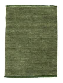 Handloom Fringes - Vert Tapis 120X180 Moderne Vert Olive (Laine, Inde)