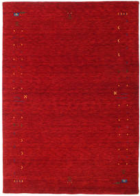 Gabbeh Loom Frame - Rouge Tapis 160X230 Moderne Rouge/Rouge Foncé (Laine, Inde)