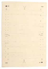 Gabbeh Loom Frame - Blanc Écru Tapis 160X230 Moderne Beige/Beige Foncé (Laine, Inde)
