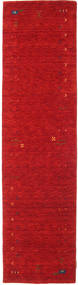 Gabbeh Loom Frame - Rouge Tapis 80X300 Moderne Tapis Couloir Rouge (Laine, Inde)