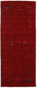 Gabbeh Loom Frame - Rouge Tapis 80X200 Moderne Tapis Couloir Rouge Foncé (Laine, Inde)