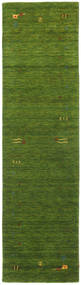 Gabbeh Loom Frame - Vert Tapis 80X300 Moderne Tapis Couloir Vert Foncé/Vert Olive (Laine, Inde)