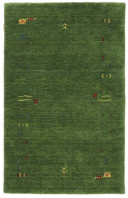 Gabbeh Loom Frame - Vert Tapis 100X160 Moderne Vert Foncé/Vert Foncé (Laine, Inde)