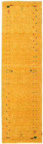 Gabbeh Loom Frame - Jaune Tapis 80X300 Moderne Tapis Couloir Jaune/Orange (Laine, Inde)