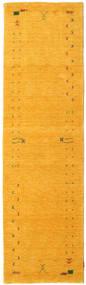 Gabbeh Loom Frame - Jaune Tapis 80X300 Moderne Tapis Couloir Orange (Laine, Inde)