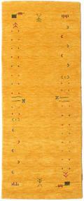 Gabbeh Loom Frame - Jaune Tapis 80X200 Moderne Tapis Couloir Jaune (Laine, Inde)