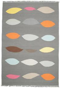 Leaves - Gris Tapis 220X320 Moderne Tissé À La Main Gris Foncé/Gris Clair (Laine, Inde)