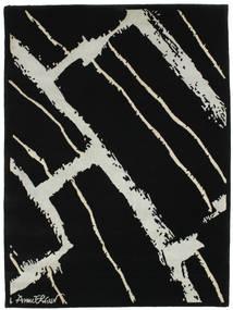Power Tapis 100X140 Moderne Fait Main Noir/Gris Clair (Laine, Inde)