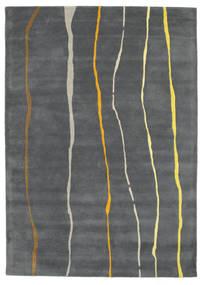 Flaws Handtufted - Gris Tapis 160X230 Moderne Gris Foncé/Gris Clair (Laine, Inde)