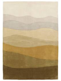 Feeling Handtufted - Marron Tapis 200X300 Moderne Beige Foncé/Vert Olive (Laine, Inde)
