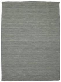 Kilim Loom - Gris Foncé Tapis 250X350 Moderne Tissé À La Main Gris Clair/Vert Foncé Grand (Laine, Inde)