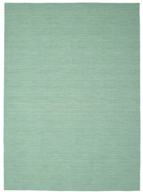 Kilim Loom - Mint Vert Tapis 250X350 Moderne Tissé À La Main Vert Pastel/Bleu Turquoise Grand (Laine, Inde)