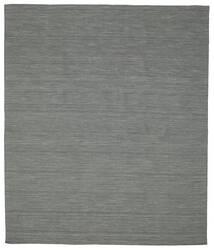 Kilim Loom - Gris Foncé Tapis 250X300 Moderne Tissé À La Main Vert Foncé/Gris Clair Grand (Laine, Inde)